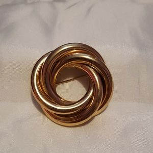 Napier gold filled knotted brooch